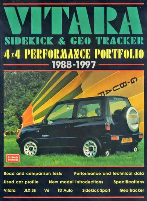 Vitara, Sidekick & Geo Tracker 4x4 Performance Portfolio 1988 - 1997