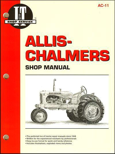 Allis Chalmers Petrol Farm Tractor Owners Service & Repair Manual - Front Cover