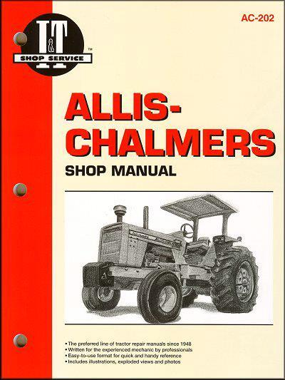 Allis Chalmers Gas & Diesel Farm Tractor Owners Service & Repair Manual - Front Cover