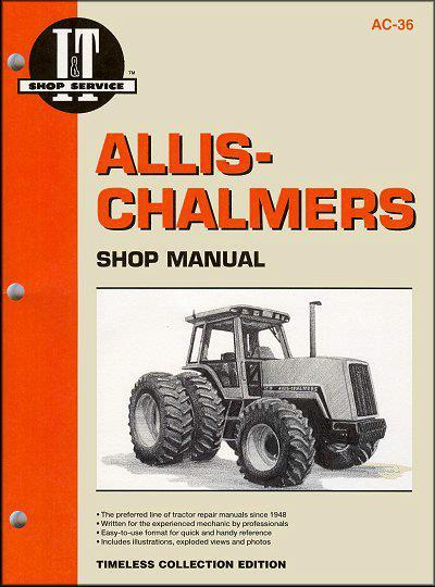 Allis Chalmers 1982 - 1985 Farm Tractor Owners Service & Repair Manual - Front Cover
