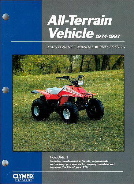 ATV 1974 - 1987 Clymer Owners Service & Repair Manual - Front Cover