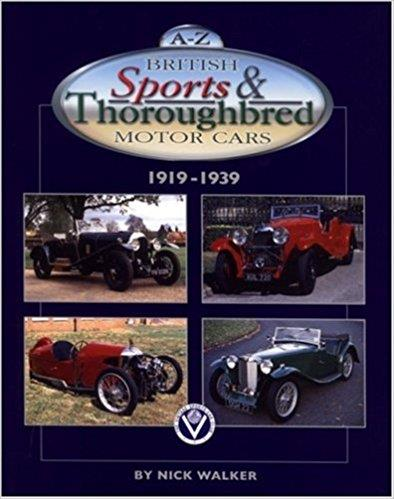 A-Z British Sports & Thoroughbred Motor Cars 1919 - 1939 - Front Cover