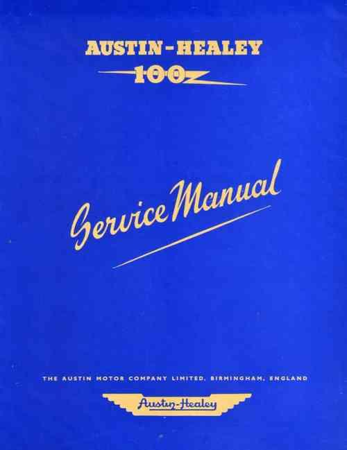 Austin-Healey 100 BN1 & BN2 Workshop Manual (Soft Cover) - Front Cover