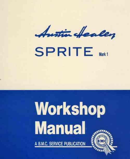 Austin-Healey Sprite Mk 1 (Frog Eye) Workshop Manual - Front Cover