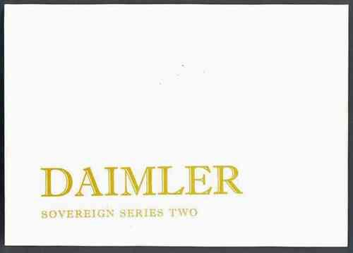 Daimler Sovereign 3.4 & 4.2 Series 2 Owners Handbook - Front Cover