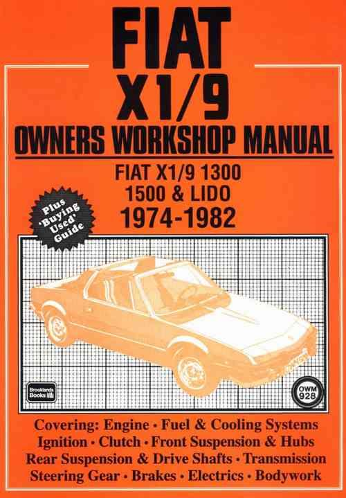 Fiat X1/9 1974 - 1982 Owners Service & Repair Manual - Front Cover