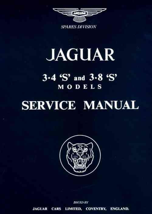 Jaguar S Type 3.4 & 3.8 1963 - 1966 Service Manual - Front Cover