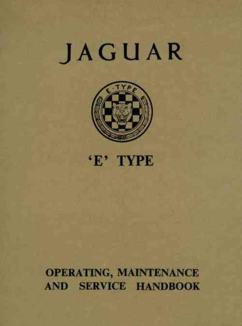 Jaguar E-Type 3.8 Series 1 Operating, Maintenance & Service Handbook - Front Cover