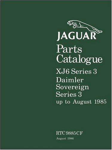 Jaguar XJ6 & Daimler Sovereign Series 3 Parts Catalogue - Front Cover