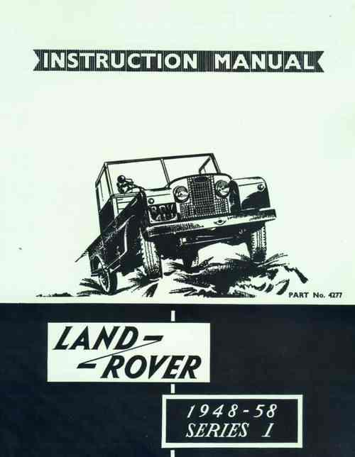 Land Rover 1948 - 1958 Series 1 Instruction Manual - Front Cover