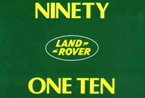 Land Rover 90 & 110 1983 - 1990 Owners Handbook - Front Cover