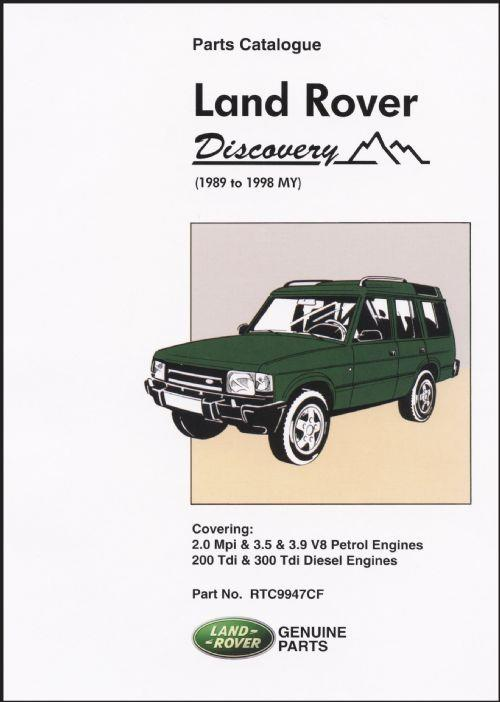 Land Rover Discovery 1989 - 1998 Parts Catalogue - Front Cover