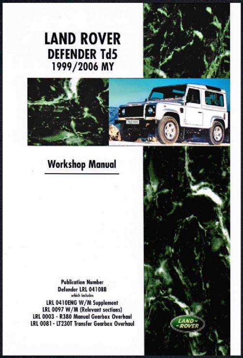 Land Rover Defender Td5 1999 - 2006 MY onwards