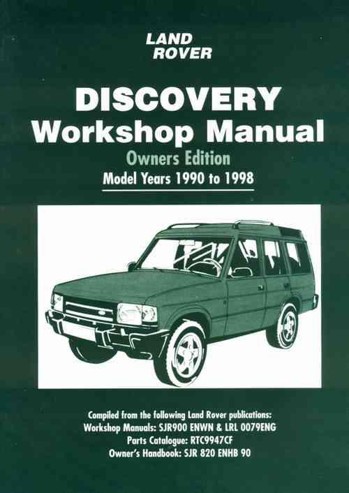 Land Rover Discovery 1990 - 1998 Owners Workshop Manual - Front Cover