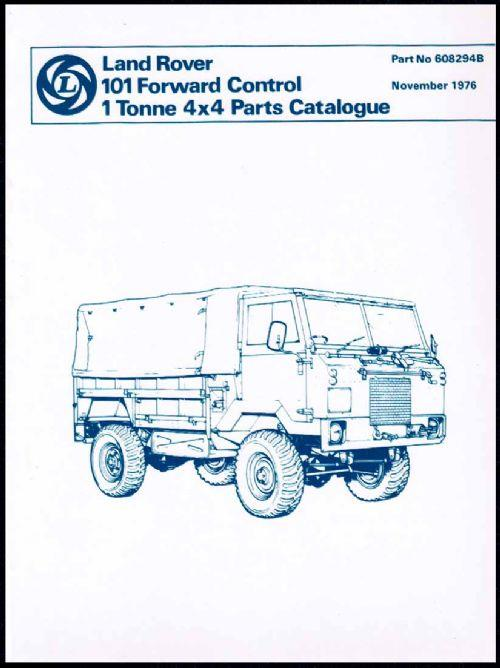 Land Rover 101 Forward Control 1 Tonne 4x4 Parts Catalogue - Front Cover