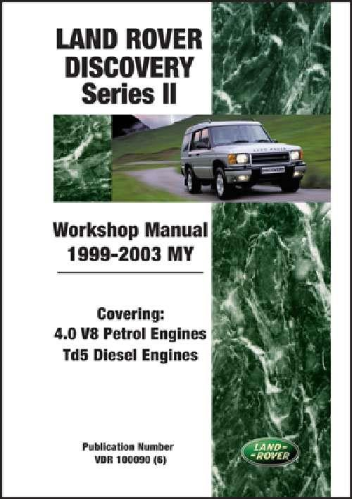 Land Rover Discovery Series 2 1999 - 2003 MY Workshop Manual - Front Cover