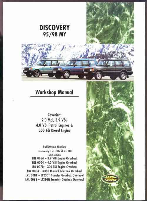 Land Rover Discovery 1995 - 1998 Petrol and Diesel Workshop Manual - Front Cover