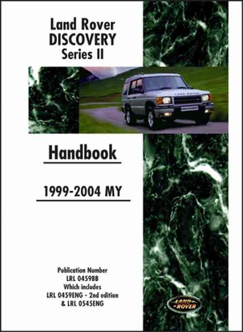 Land Rover Discovery Series 2 1999 - 2004 MY Handbook - Front Cover