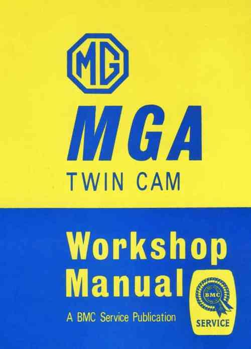 MG MGA Twin Cam Workshop Manual - Front Cover