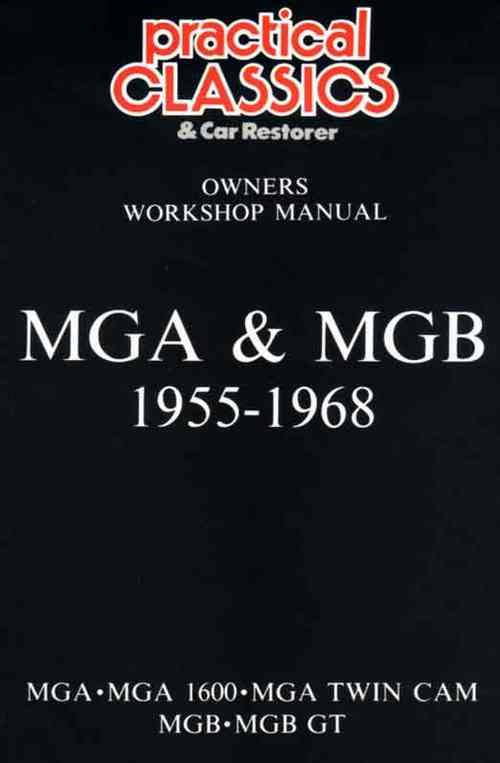 MG MGA, MGB & GT 1955 - 1968 (Glovebox) Owners Service & Repair Manual - Front Cover