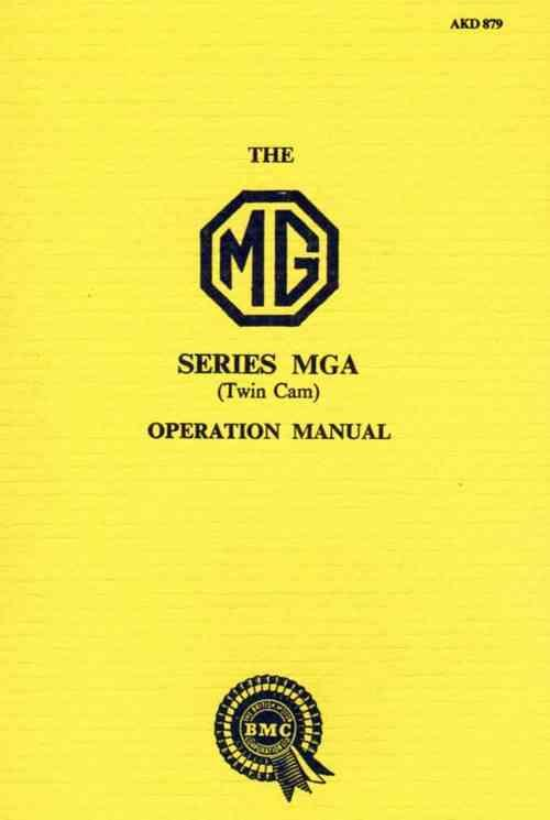 MG MGA Twin Cam Operation Manual (3rd Edition) - Front Cover