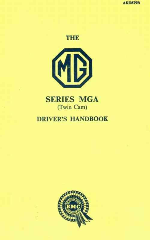 MG MGA Twin Cam Drivers Handbook