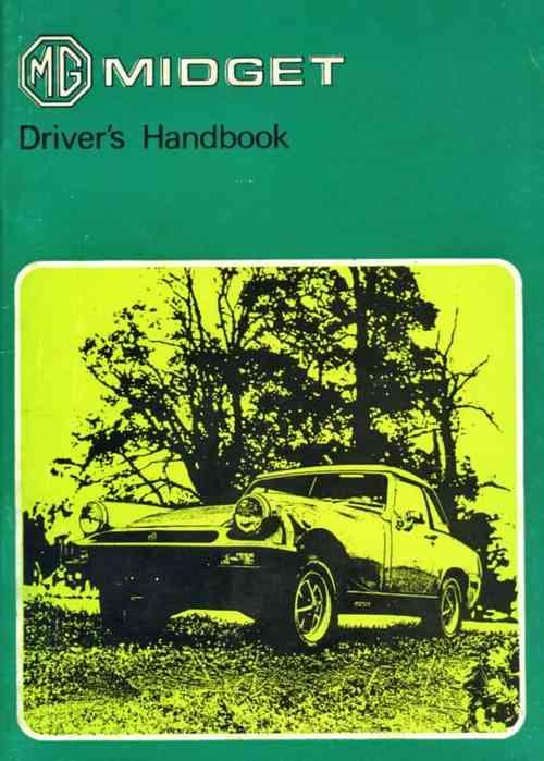 MG Midget Mk 3 1978 on Drivers Handbook - Front Cover
