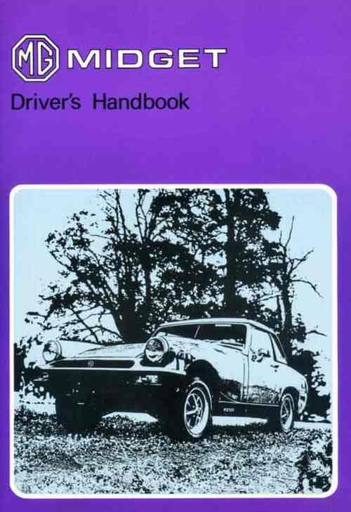 MG Midget Mk 3 1976 on Drivers Handbook - Front Cover