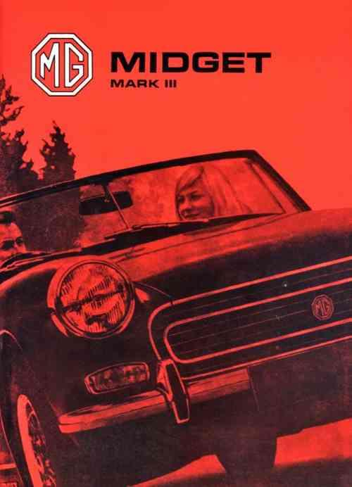 MG Midget Mk 3 1973 on Owners Handbook - Front Cover
