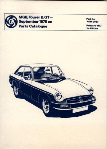 MGB Tourer & GT 1976 on Parts Catalogue - Front Cover