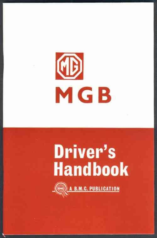 MG MGB Tourer 1965 On Owners Handbook - Front Cover