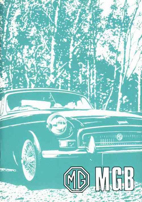 MG MGB Tourer and GT Owners Handbook - Front Cover