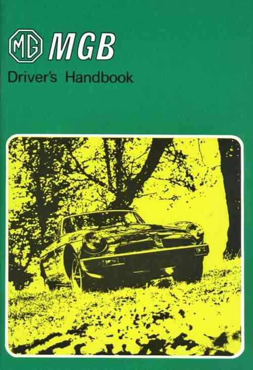 MG MGB Tourer & GT 1976 on Owners Handbook - Front Cover