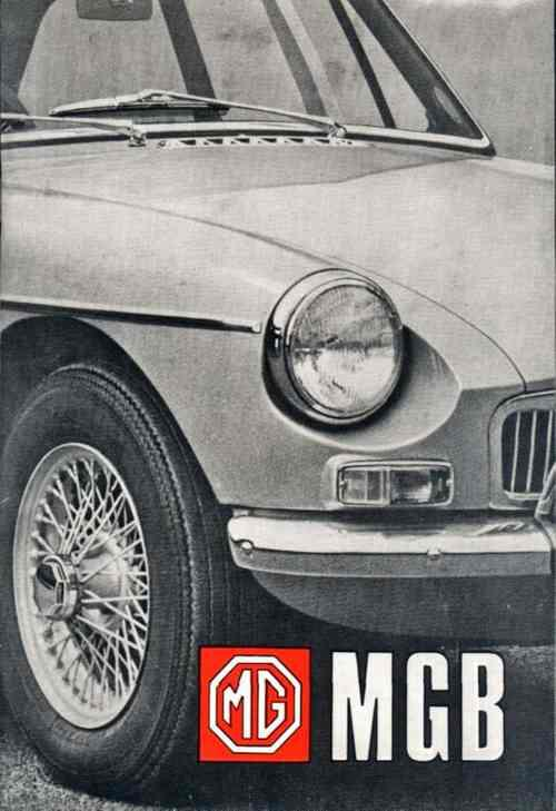 MG MGB & GT Owners Handbook 1968 On - Front Cover