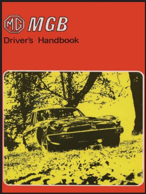 MG MGB Tourer 1975 on Owners Handbook - Front Cover