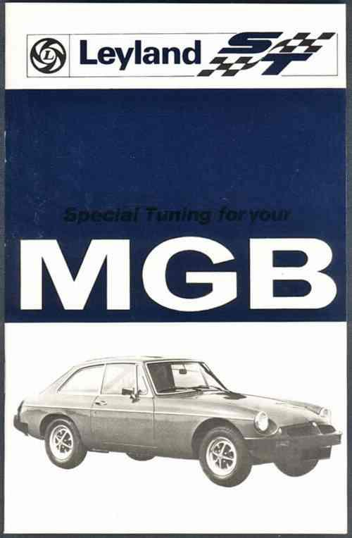 MG MGB Tourer & GT Tuning Owners Handbook - Front Cover