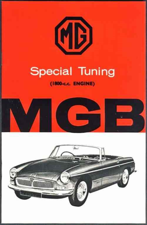 MG MGB 1800 cc Engine Tuning Owners Handbook - Front Cover