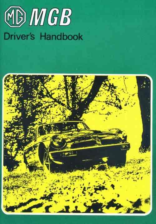 MG MGB Tourer 1979 on Drivers Handbook - Front Cover