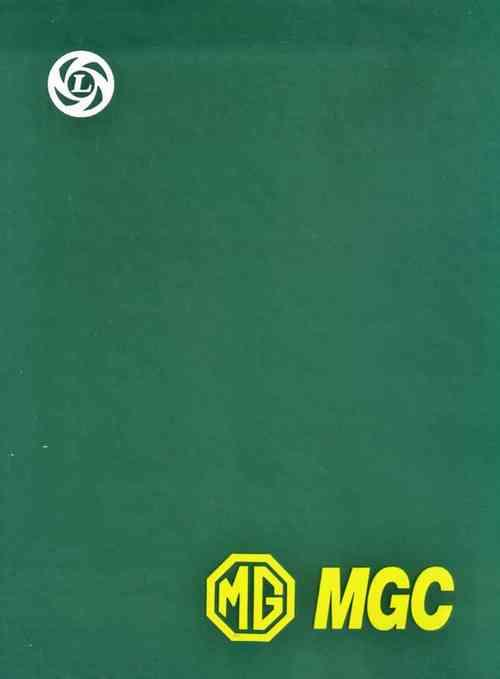 MG MGC 1967 - 1969 Workshop Owners Service & Repair Manual