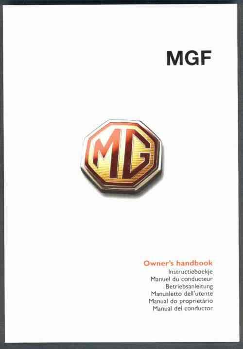 MGF Owners Handbook (3rd Edition)