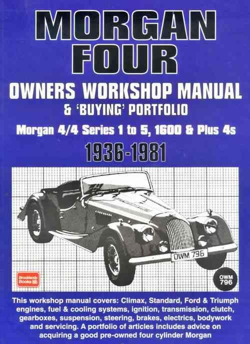 Morgan Four Owners Workshop Manual & Buying Portfolio - Front Cover
