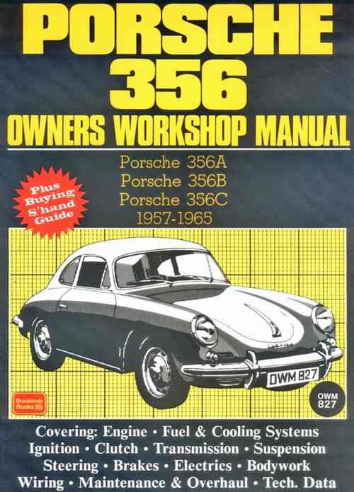 Porsche 356 1957 - 1965 Owners Service & Repair Manual - Front Cover