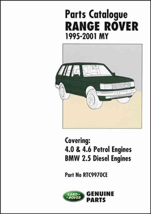 Range Rover Parts Catalogue 1995 - 2001 MY - Front Cover