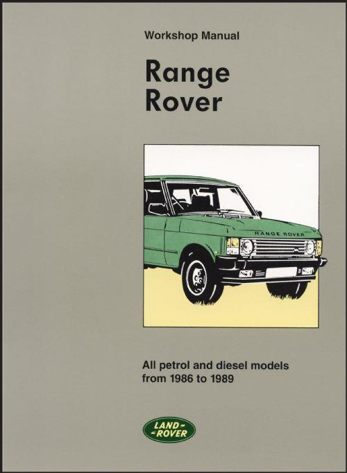 Range Rover (Petrol) 1986 - 1989 Owners Service & Repair Manual - Front Cover