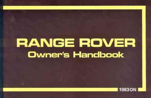 Range Rover 3.5 litre 1983 - 1985 Owners Handbook - Front Cover