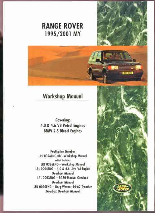 Range Rover 1995 - 2001 MY Workshop Manual - Front Cover