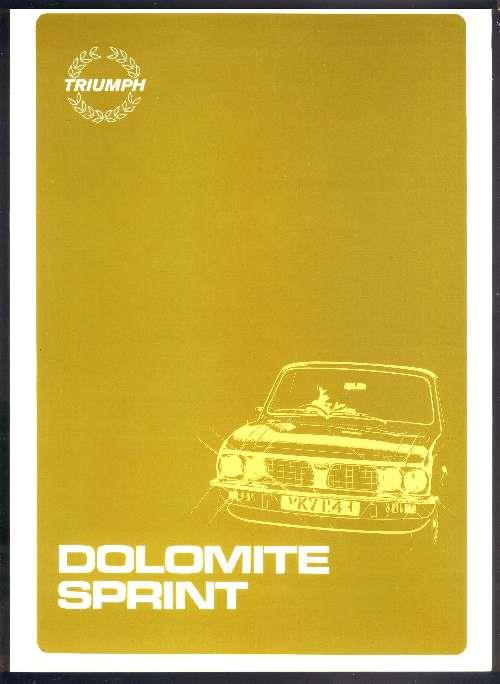 Triumph Dolomite Sprint Owners Service & Repair Manual
