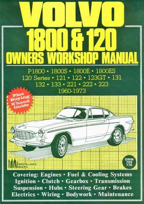 Volvo 1800 & 120 1960 - 1973 Owners Service & Repair Manual - Front Cover