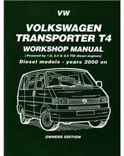 Volkswagen VW Transporter T4 Diesel 2000 - 2004 Owners Service & Repair Manual