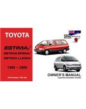 Toyota Estima / Lucida / Emina 1990 - 2000 Owners Manual